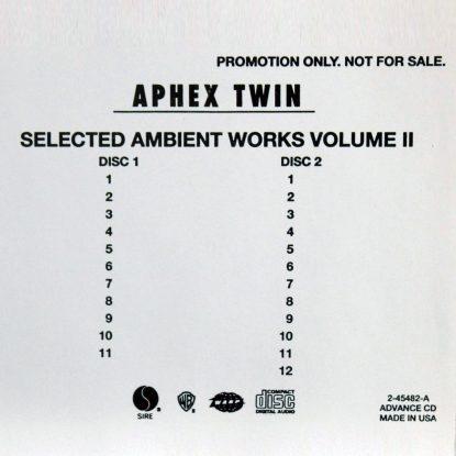 Aphex Twin - Selected Ambient Works Volume II - CD
