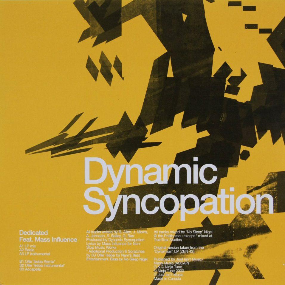 Dynamic Syncopation - Dedicated/Mass Influence - Vinyl