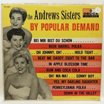 Andrews Sisters - By Popular Demand - Vinyl