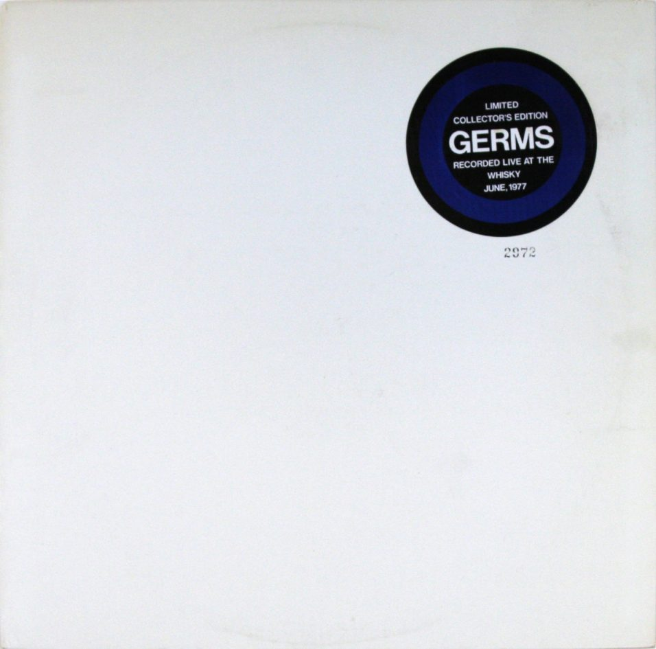 Germs - Live At The Whiskey June 77 - Vinyl